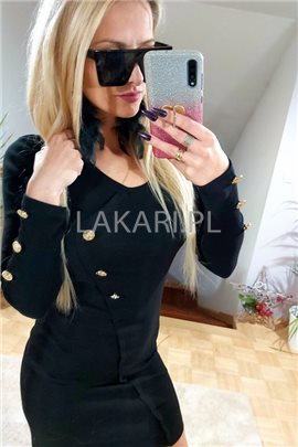Sukienka M3243 czarna r. L-XL