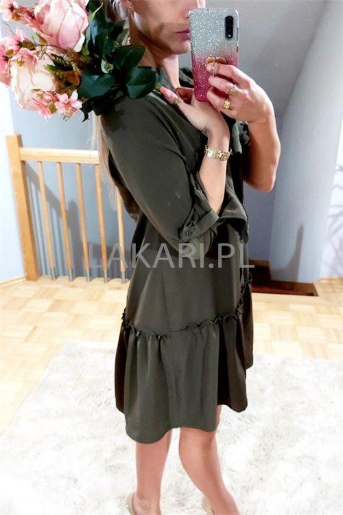 Sukienka V001 Nina khaki